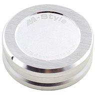 M-Style víčko nádobky brzdové kapaliny - stříbrné - Viečko nádobky brzdovej kvapaliny