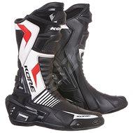 KORE Sport čierne/biele/červené - Topánky na motorku