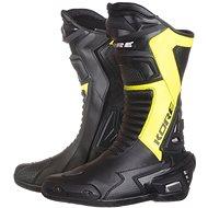 KORE Sport čierne/žlté - Topánky na motorku