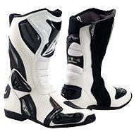 PREXPORT Sonic WH – biele - Topánky na motorku