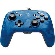 PDP Faceoff Deluxe+ Audio Controller – modrý – Nintendo Switch - Gamepad