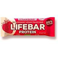 Lifefood Lifebar Proteín Bio Raw jahodová – 15 ks - Raw tyčinka