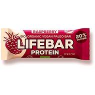 Lifefood Lifebar Proteín Bio Raw malinová – 15 ks - Raw tyčinka