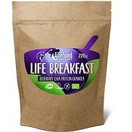 Lifefood Life Breakfast Bio Raw Granola čučoriedková s chia semienkami - Proteínová kaša