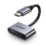 Ugreen Type-C (USB-C) To 3,5 mm Jack (F) + Type-C (F) Adaptér Silver
