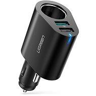 Ugreen Dual USB (18 W QC 3.0 + 12 W) + Extened Cigarette Socket 60 W Black - Nabíjačka do auta