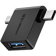 Ugreen micro USB (M) + USB-C (M) to USB 3.0 (F) OTG Adaptér Black