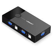 Ugreen 2 In 1 Out VGA + USB-B + USB-A KVM Switch Black - Prepínač