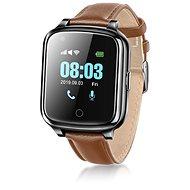 WowME Senior Watch čierne kožené - Smart hodinky