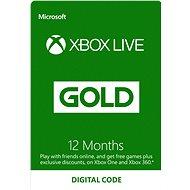 Xbox Live Gold - 12 mesiacov členstva - Dobíjacia karta
