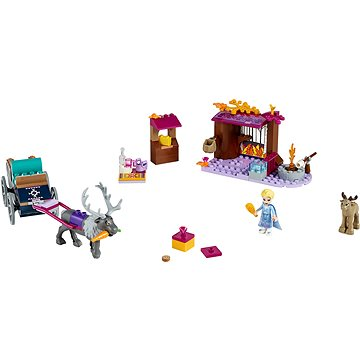 LEGO Disney Princess 41166 Elsa a dobrodružstvo s povozom