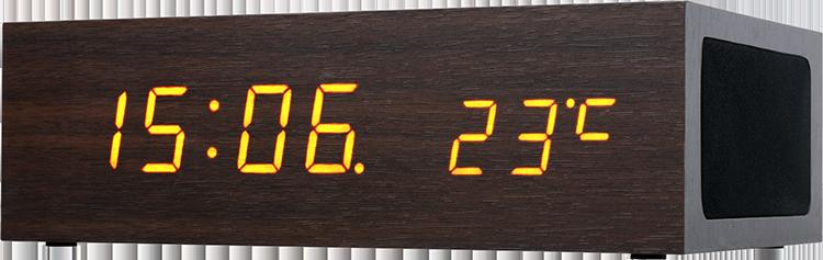 CONNECT IT Qi Alarm Clock - štýlový budík a nabíjačka v jednom