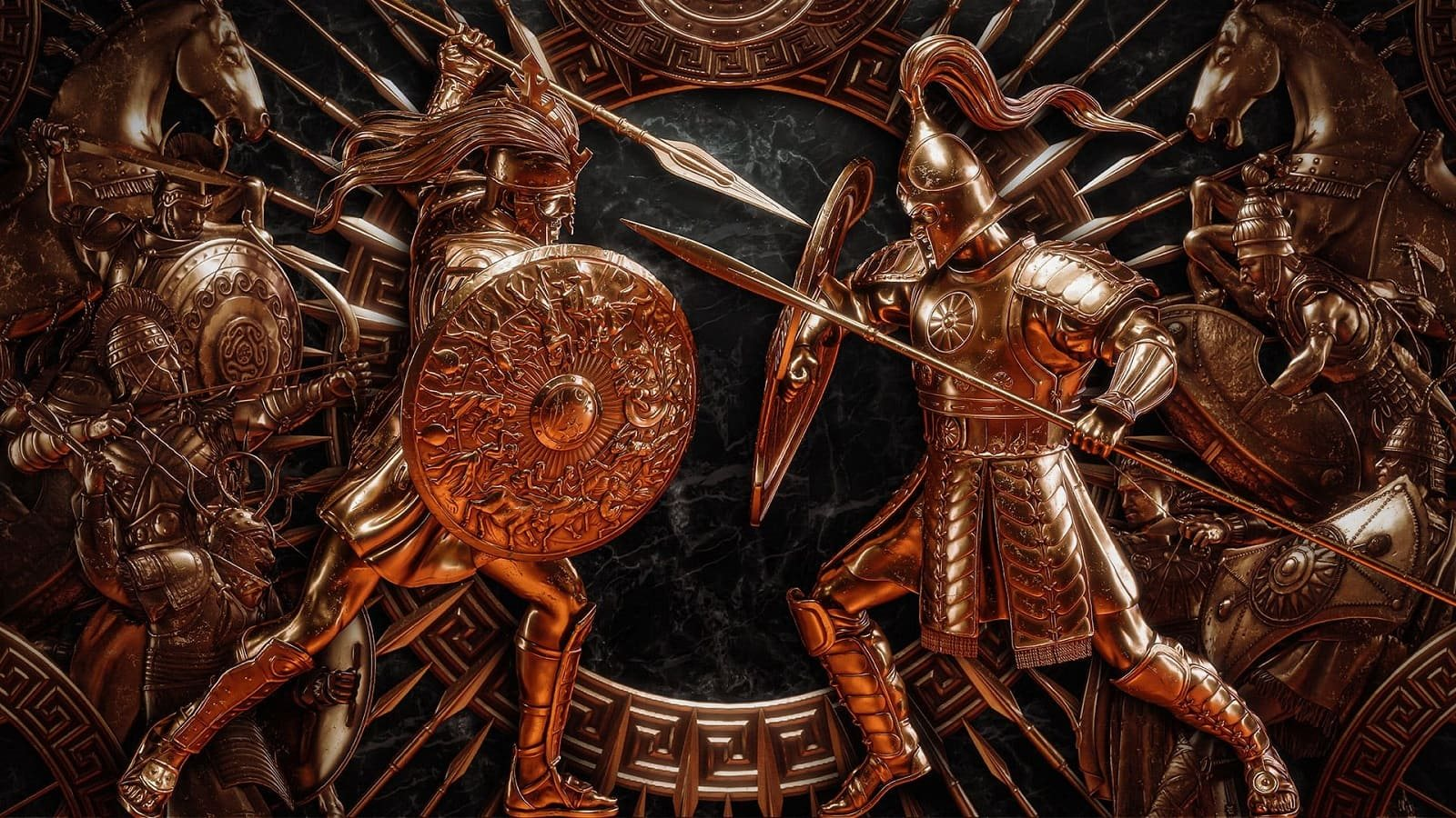 Total War Saga: Troy; wallpaper: válečník