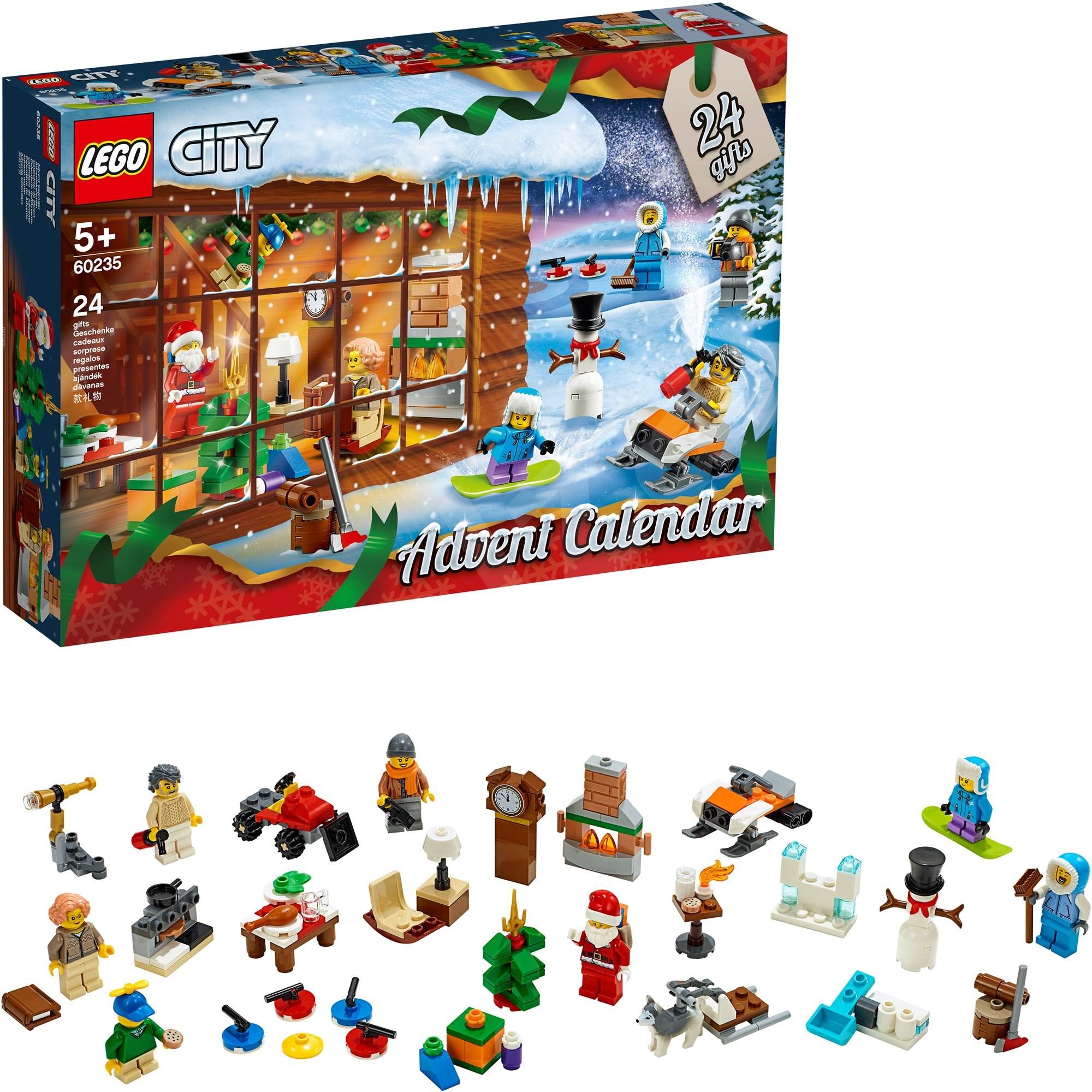 Adventný kalendár Lego City 24 ks