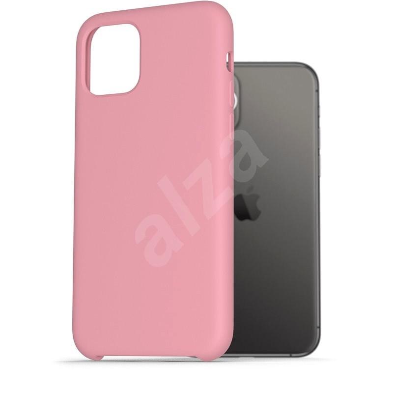 AlzaGuard Premium Liquid Silicone iPhone 11 Pro ružové - Kryt na mobil