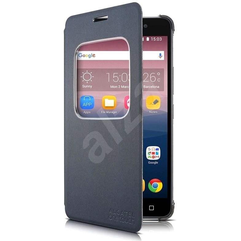 ALCATEL ONETOUCH PIXI 4 (6) Flip Grey - Puzdro na mobil