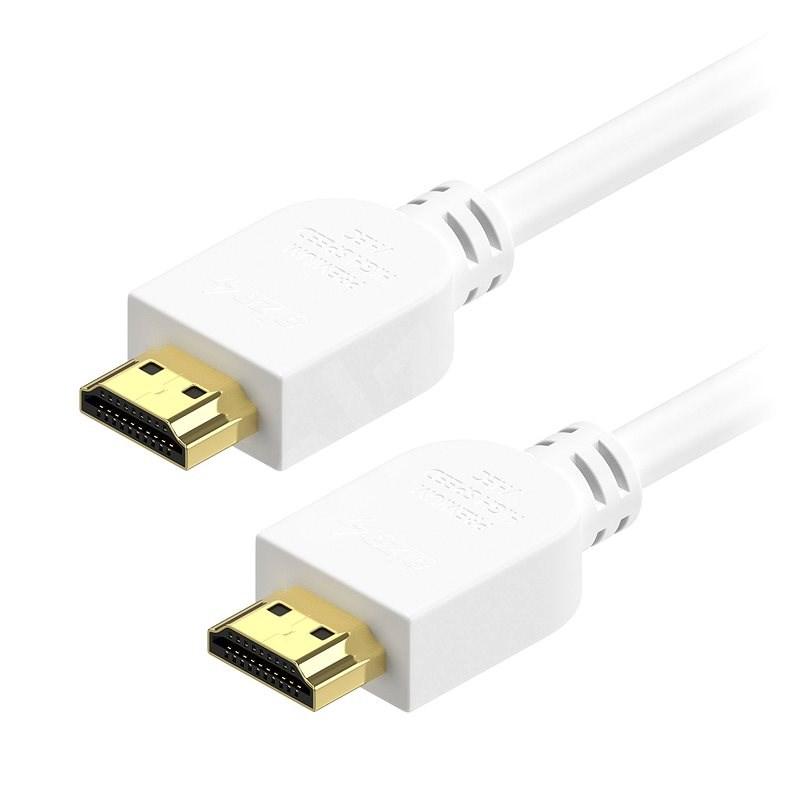 AlzaPower Premium HDMI 2.0 High Speed 4K 1,5 m biely - Video kábel