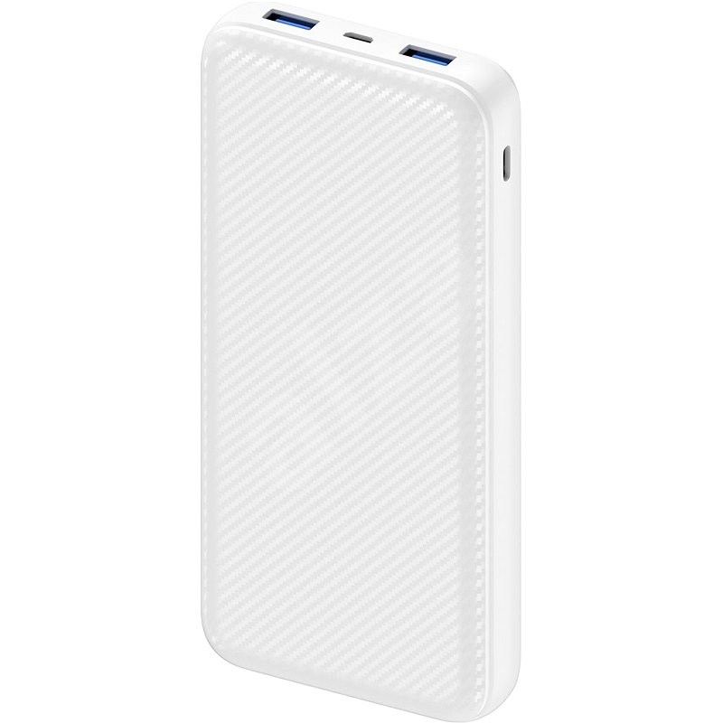 AlzaPower Carbon 20000 mAh Fast Charge + PD3.0 White - Powerbank