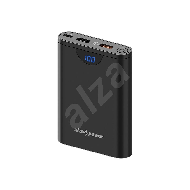 AlzaPower Unlimited 10000 mAh Power Delivery 3.0 (30 W) Black - Powerbank