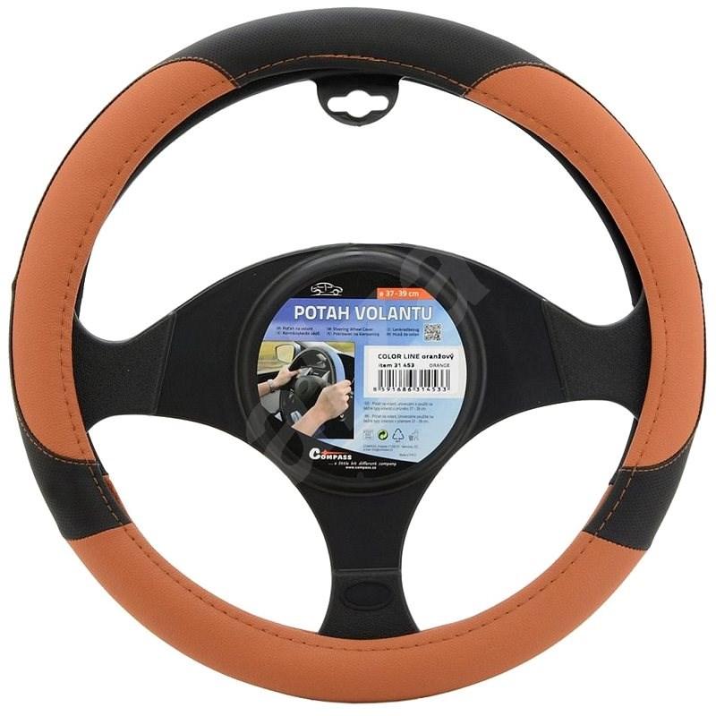 COMPASS Poťah volantu COLOR LINE oranžový - Poťah na volant
