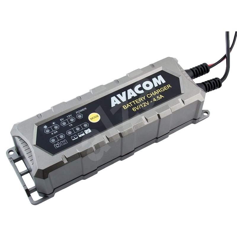 AVACOM Automatická nabíjačka 6 V/12 V 4,5 A pre olovené AGM/GÉL akumulátory (1,2-120 Ah) - Nabíjačka autobatérií