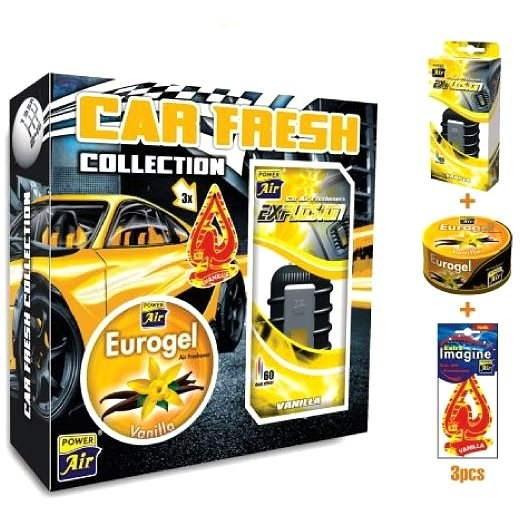 Car Fresh Collection Vanilla - darčekové balenie - Osviežovač vzduchu