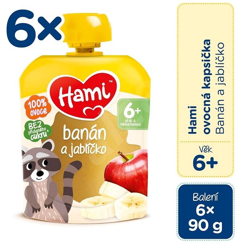 Hami Banán a jabĺčko 6× 90 g - Príkrm