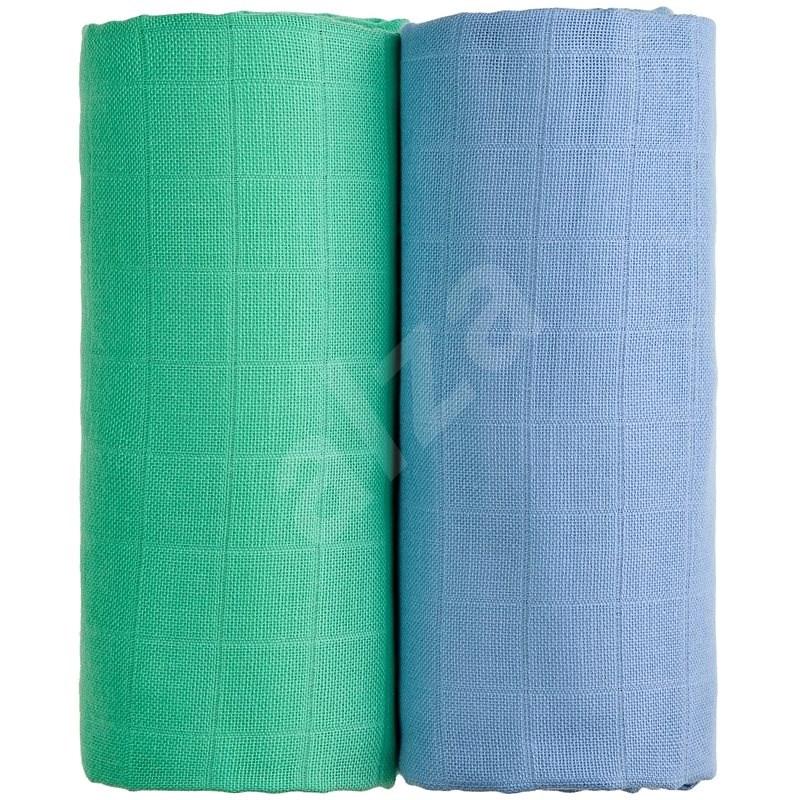 T-tomi Látkové TETRA osušky blue + green, 2 ks - Detská osuška