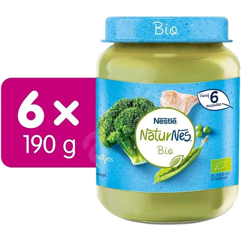 NESTLÉ NaturNes BIO Morčacie mäso s brokolicou, hráškom a paštrnákem 6× 190 g - Príkrm