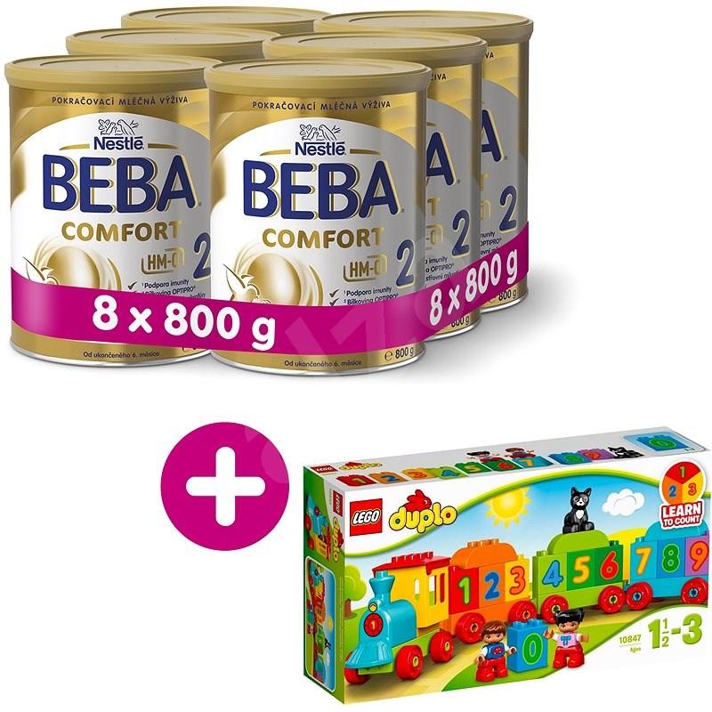BEBA COMFORT 2 HM-O (8× 800 g) + Lego Duplo Vláčik s číslami - Dojčenské mlieko