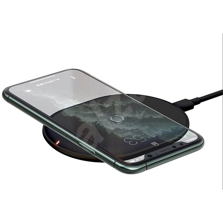 Baseus Cobble Wireless Charger 15W Black - Bezdrôtová nabíjačka