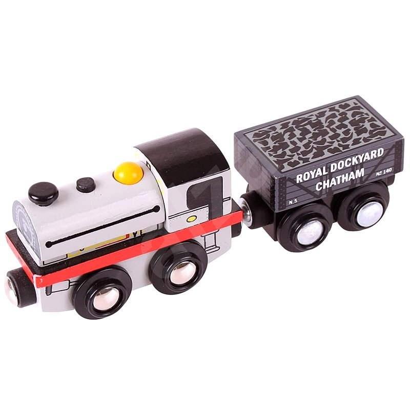 Lokomotiva Peckett - Drevený model