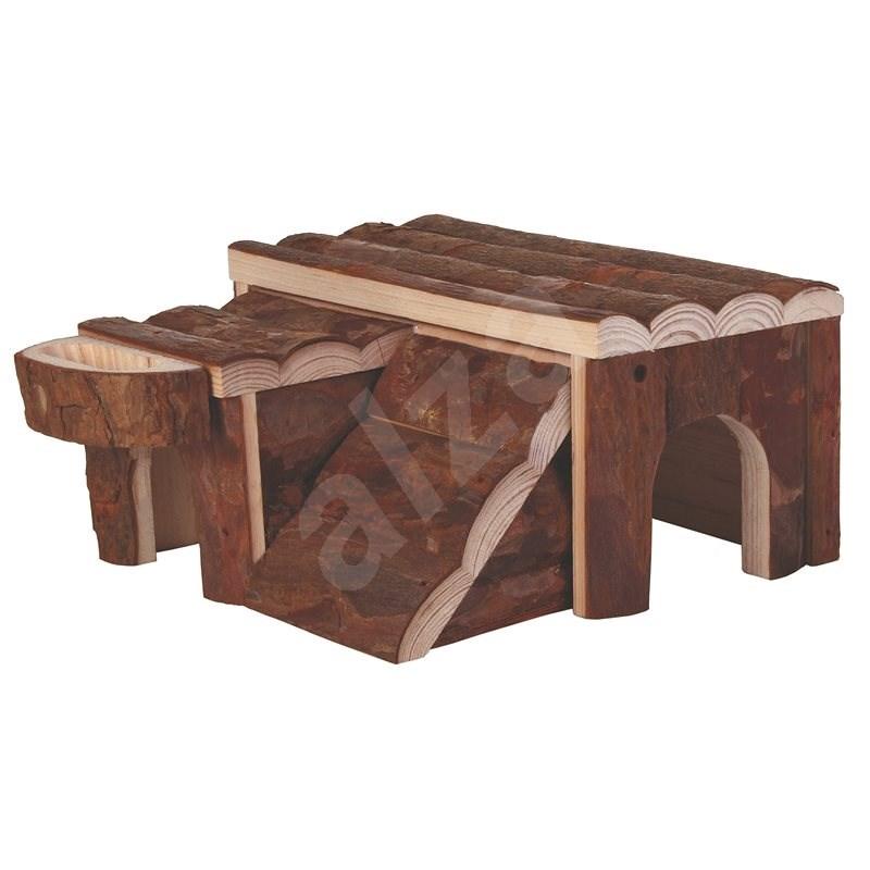 Trixie Drevený domček Luka pre škrečka 14 × 7 × 14 cm - Domček pre hlodavce