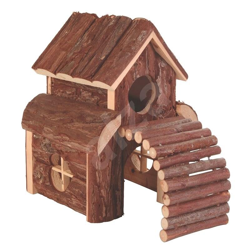 Trixie Natural Living Drevený domček dvojposchodový Finn 13 × 20 × 20 cm - Domček pre hlodavce