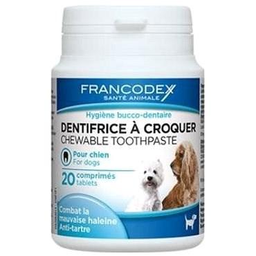 Francodex žuvacia zubná pasta v tabletách pes 20 tbl - Zubná pasta pre psa