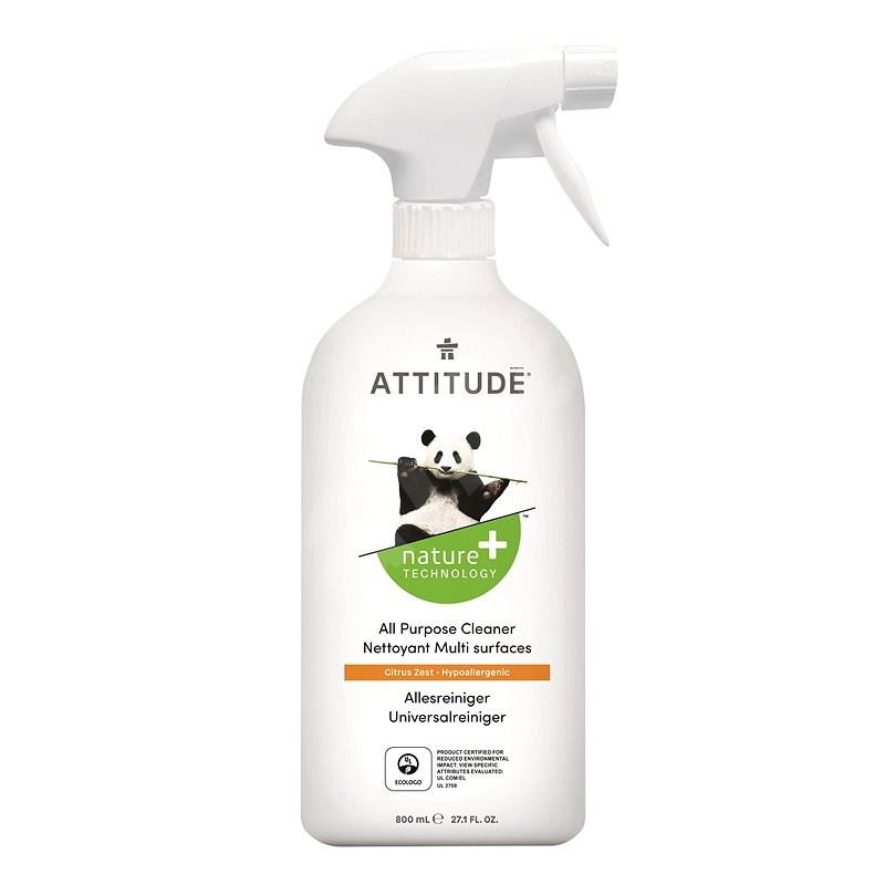 ATTITUDE Univerzálny čistič s vôňou citrónovej kôry s rozprašovačom 800 ml - Ekologický čistiaci prostriedok