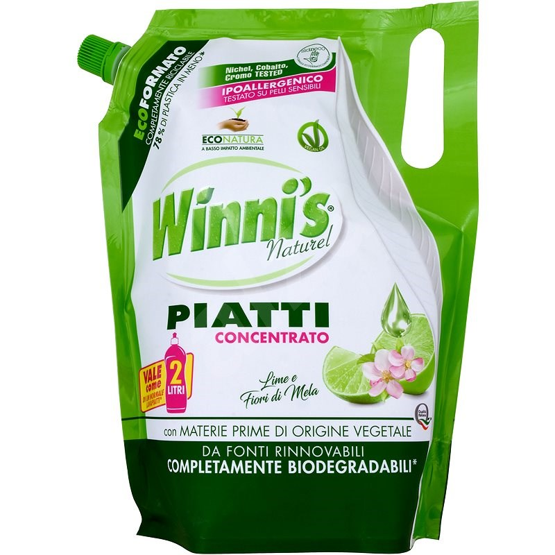 WINNI´S Piatti lime Ecoricarica 1000 ml - Eko prostriedok na riad