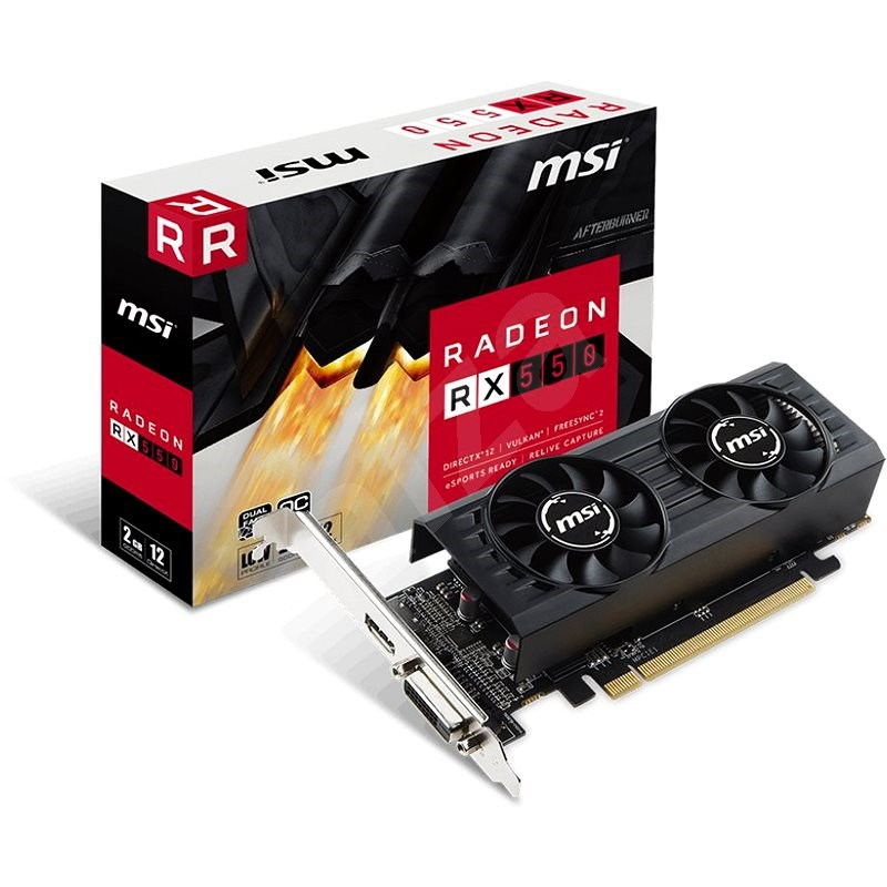 MSI Radeon RX 550 2GT LP OC 2 GB - Grafická karta