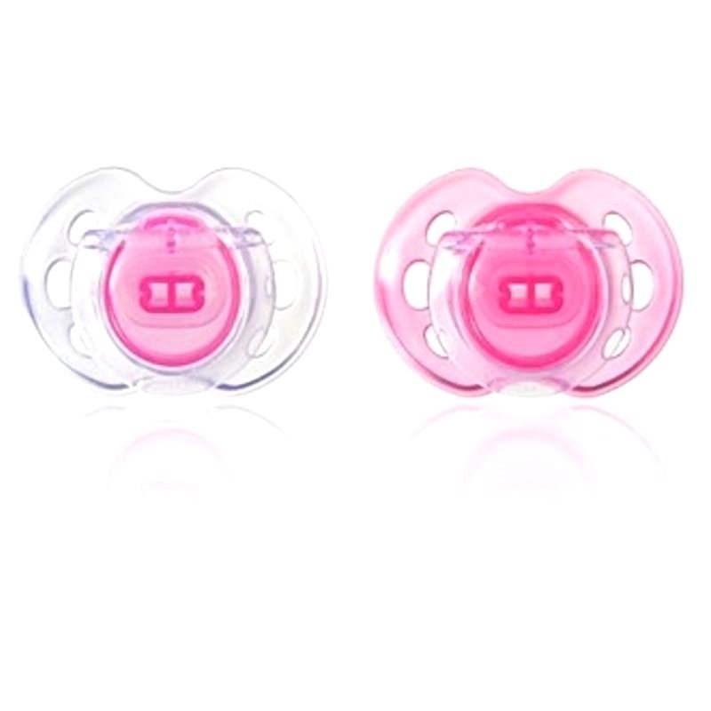 Silikónové cumlík CTN Air Style 2 ks ružový - Cumlík