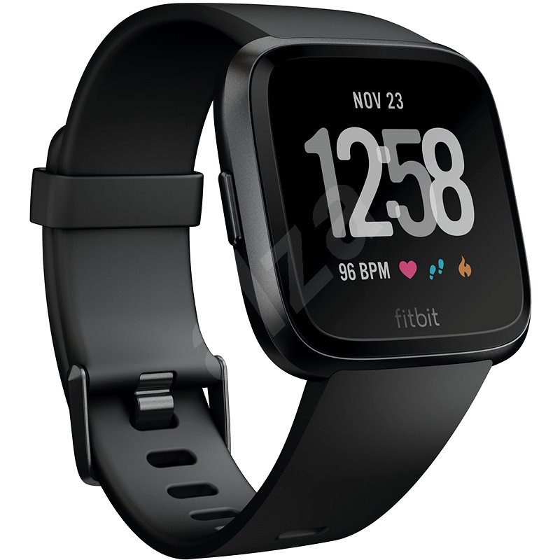 Fitbit Versa – Black/Black Aluminum - Smart hodinky