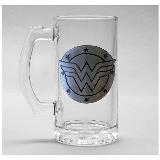 Wonder Woman – Logo – sklenený korbel - Pohár