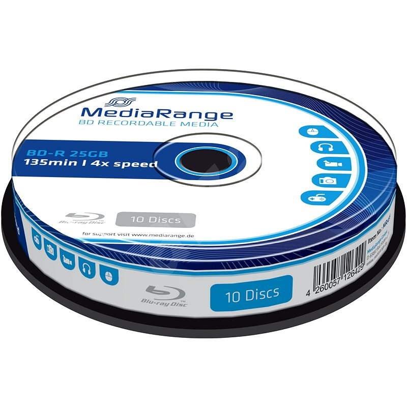 MediaRange BD-R (HTL) 25GB 10ks CakeBox - Médium