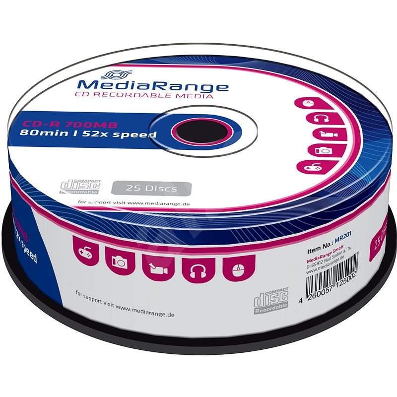 MediaRange CD-R 25 ks cakebox - Médium