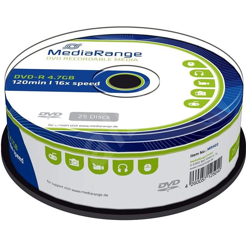 MediaRange DVD-R 25 ks cakebox - Médium