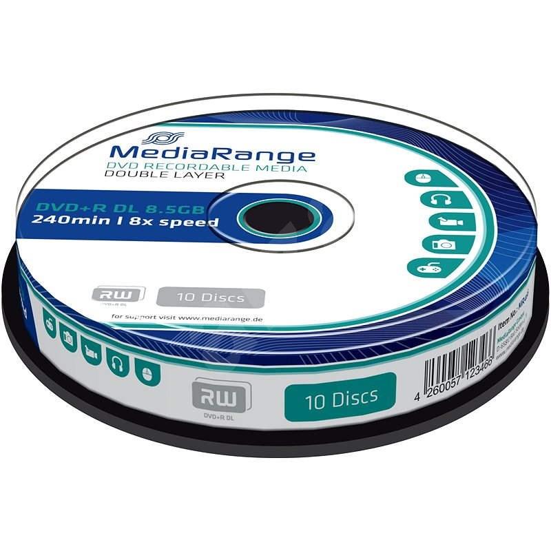 MediaRange DVD + R Dual Layer 10 ks CakeBox - Médium