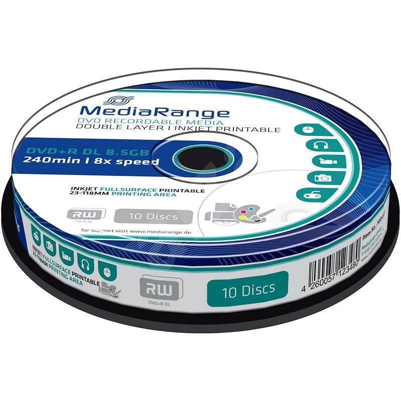 MediaRange DVD+R Dual Layer Printable 10ks cakebox - Médium