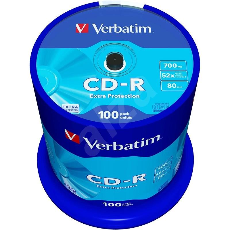 Verbatim CD-R DataLife Protection 52x, 100 ks cakebox - Médium