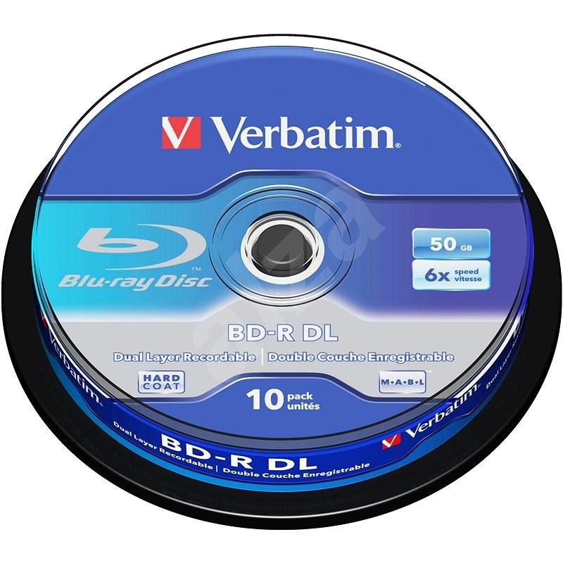 Verbatim BD-R 50 GB Dual Layer 6×, 10 ks Cake-Box - Médium