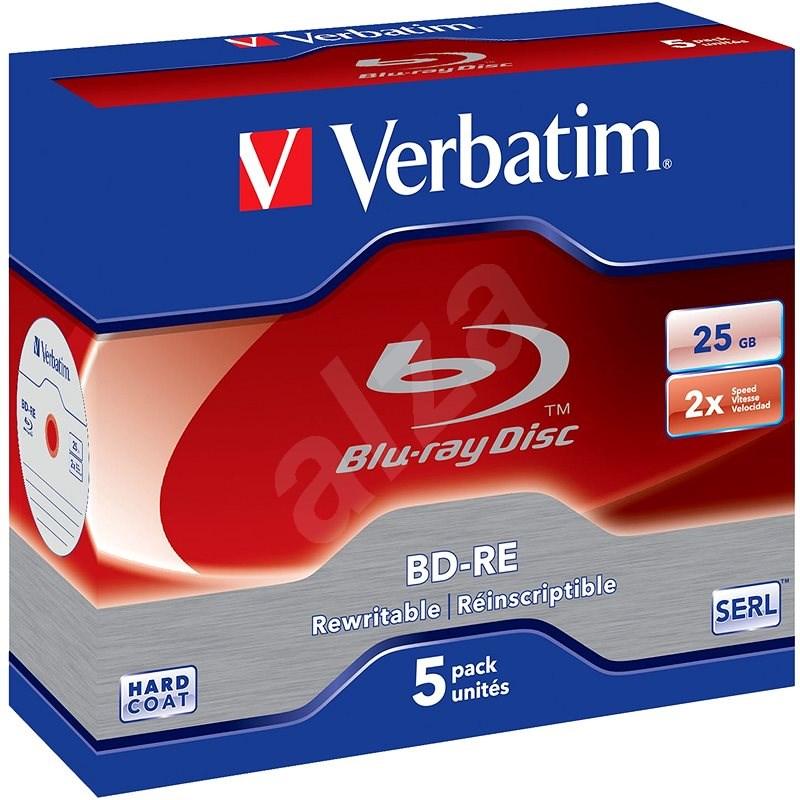 VERBATIM BD-RE SL 25GB, 2×, jewel case 5 ks - Médium