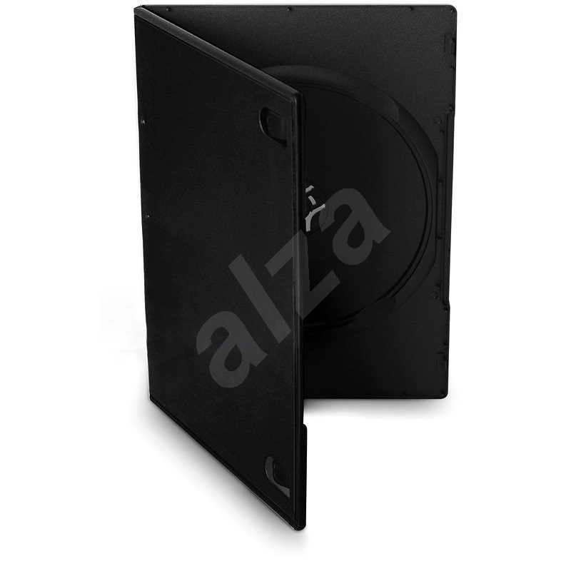 COVER IT Krabička na 1 ks, čierna, 7 mm, 10 ks/bal - Obal na CD/DVD